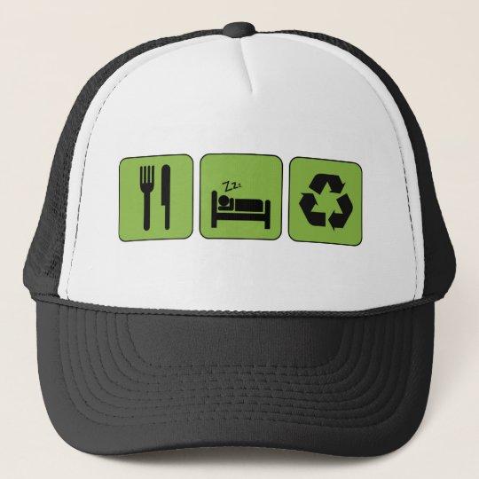 Eat, Sleep, Recycle Hat