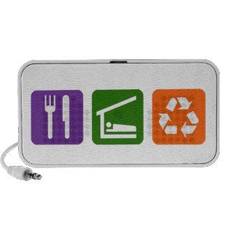Eat Sleep Recycle Notebook Speakers