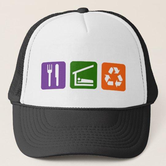 Eat Sleep Recycle Trucker Hat