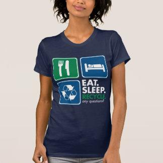 Eat Sleep Recycle - White Tees