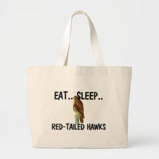 Eat Sleep RED-TAILED HAWKS Jumbo Tote Bag