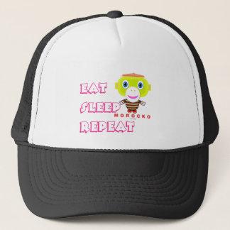 Eat Sleep Repeat-Cute Monkey-Morocko Trucker Hat
