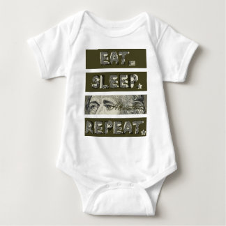 Eat Sleep Repeat Patriotic Alexander Hamilton Baby Bodysuit