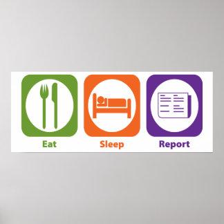 Eat Sleep Report Print
