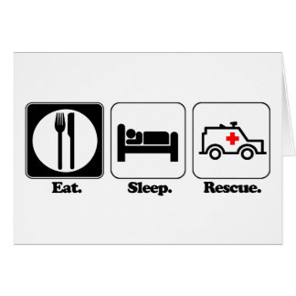 eat sleep rescue cards