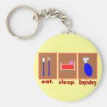 Eat Sleep Respiratory Key Chain
