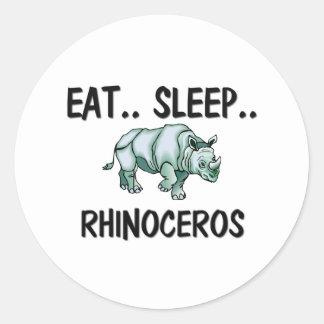 Eat Sleep RHINOCEROS Stickers