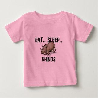 Eat Sleep RHINOS Baby T-Shirt
