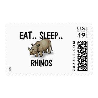 Eat Sleep RHINOS Postage