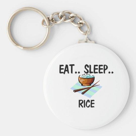 Eat Sleep RICE Keychain