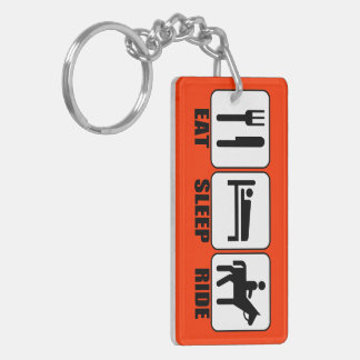 Eat Sleep Ride (a Horse) Any Color Cowboy Keychain