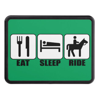 Eat Sleep Ride a Horse Equestrian Trailer Hitch Cover
