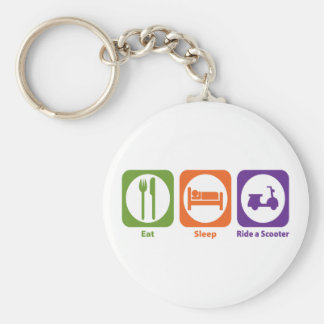 Eat Sleep Ride a Scooter Keychain