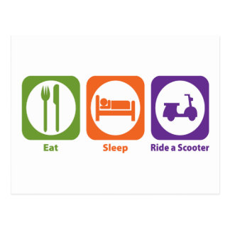 Eat Sleep Ride a Scooter Postcard