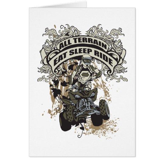 Eat, Sleep, Ride All Terrain Card