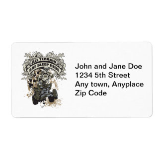 Eat, Sleep, Ride All Terrain Personalized Shipping Labels