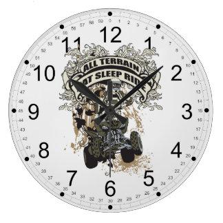 Eat, Sleep, Ride All Terrain Large Clock