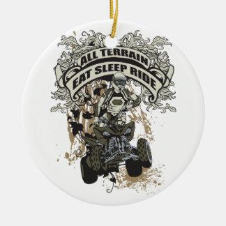 Eat, Sleep, Ride All Terrain Ornaments