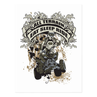 Eat, Sleep, Ride All Terrain Postcard