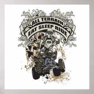 Eat, Sleep, Ride All Terrain Poster