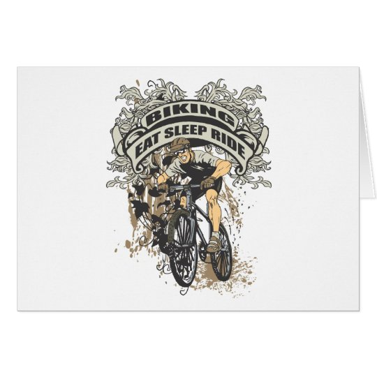 Eat, Sleep, Ride Biking Card