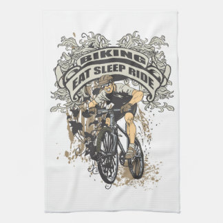 Eat, Sleep, Ride Biking Hand Towel