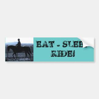 EAT - SLEEP - RIDE! CAR BUMPER STICKER