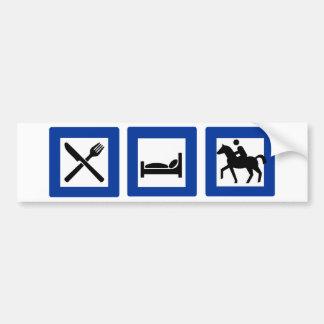 eat sleep ride car bumper sticker