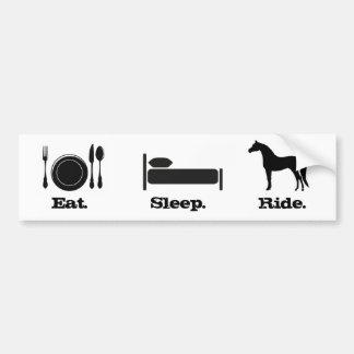 Eat. Sleep. Ride. Car Bumper Sticker