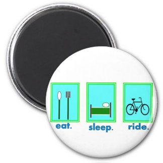 eat sleep ride  Cyclicst, biking gifts 2 Inch Round Magnet