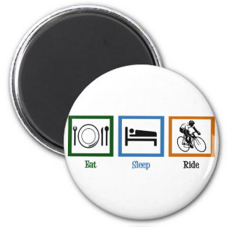 Eat Sleep Ride (Cyclists) 2 Inch Round Magnet