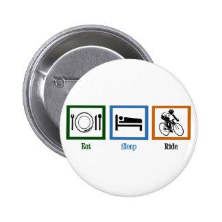 Eat Sleep Ride (Cyclists) Button