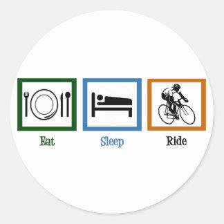 Eat Sleep Ride (Cyclists) Classic Round Sticker