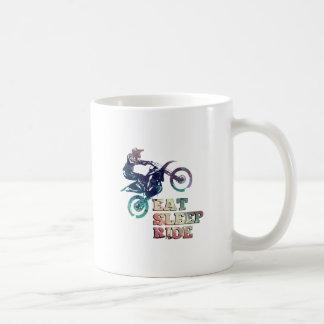 Eat Sleep Ride Dirt Bike Coffee Mug