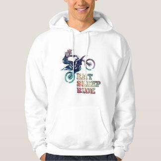 Eat Sleep Ride Dirt Bike Hoodie