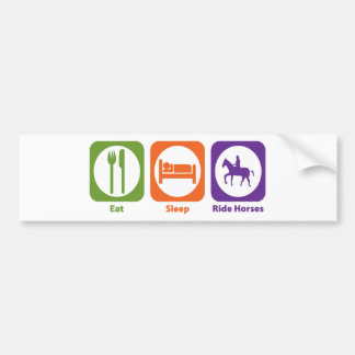 Eat Sleep Ride Horses Car Bumper Sticker