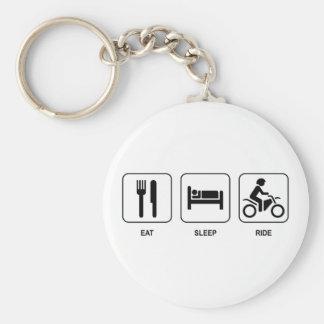 Eat Sleep Ride Keychain