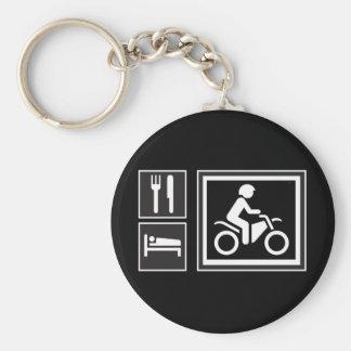 Eat. Sleep. RIDE! Keychain