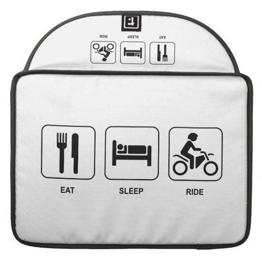 Eat Sleep Ride MacBook Pro Sleeves
