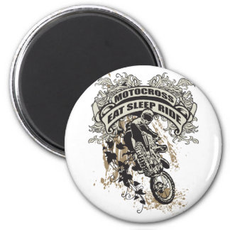 Eat, Sleep, Ride Motocross 2 Inch Round Magnet