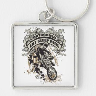 Eat, Sleep, Ride Motocross Keychain