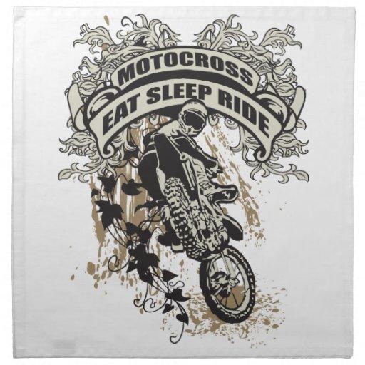 Eat, Sleep, Ride Motocross Napkin