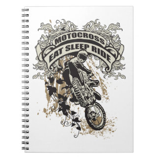 Eat, Sleep, Ride Motocross Notebook