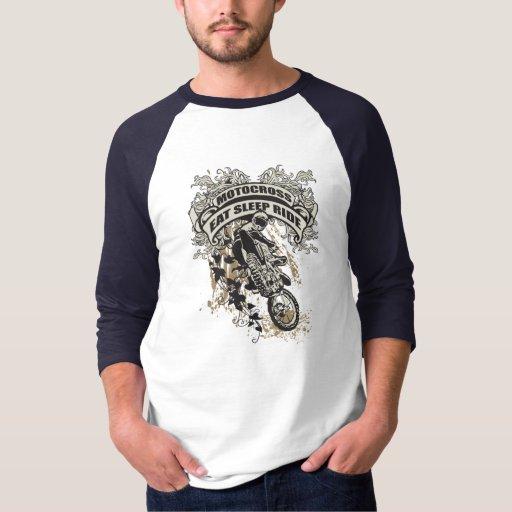 Eat, Sleep, Ride Motocross Tshirts