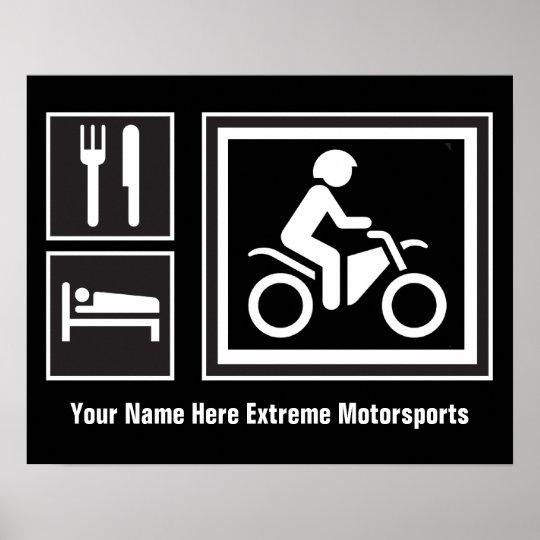 Eat Sleep RIDE Motorbike Poster
