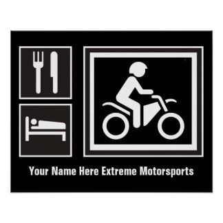 Eat Sleep RIDE Motorbike Posters