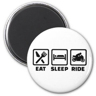 Eat sleep ride motorcycle 2 inch round magnet