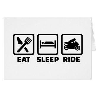 Eat sleep ride motorcycle card