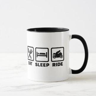 Eat sleep ride motorcycle mug