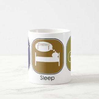 Eat Sleep Ride Classic White Coffee Mug